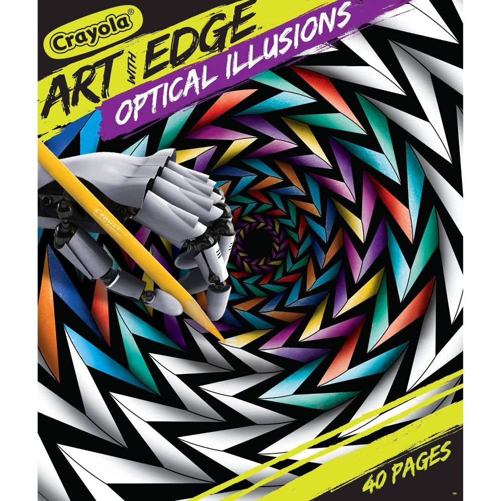 Crayola 40pg Art With Edge Coloring Book Optical Illusions In 2020 Crayola Art Optical Illusions Art Optical Illusions