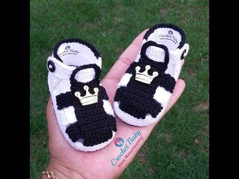 Sandalinha KAWÊ LUCAS de crochê - Crochet Baby Yara Nascimento ...