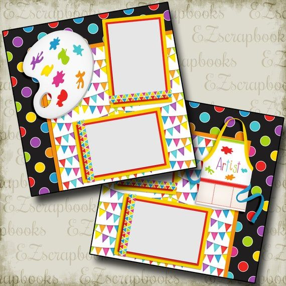 The Artist - 2 Premade Scrapbook Pages - EZ Layout