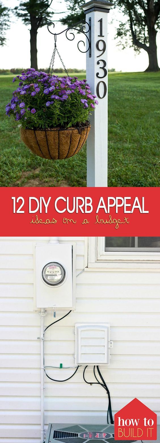 DIY Curb Appeal Ideas On A Budget:Landscaping, Front Yards Flower Beds, Porches, Front Yards Window Boxes, Home Improvements, Walkways