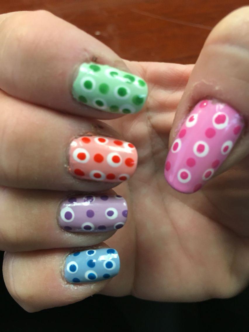 Polka dot #nails