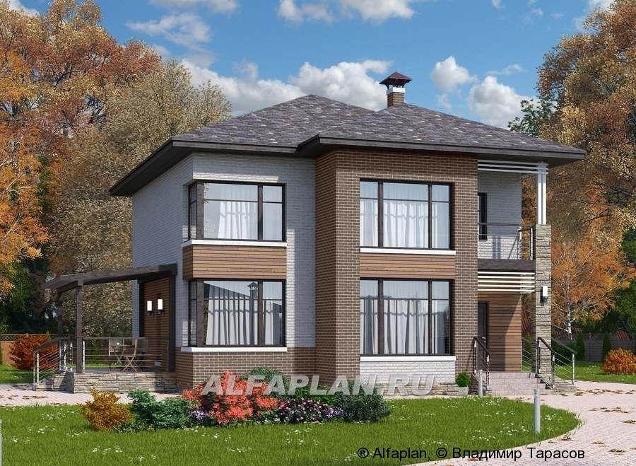 Стильный двухэтажный коттедж: цены, планировка, фото ...