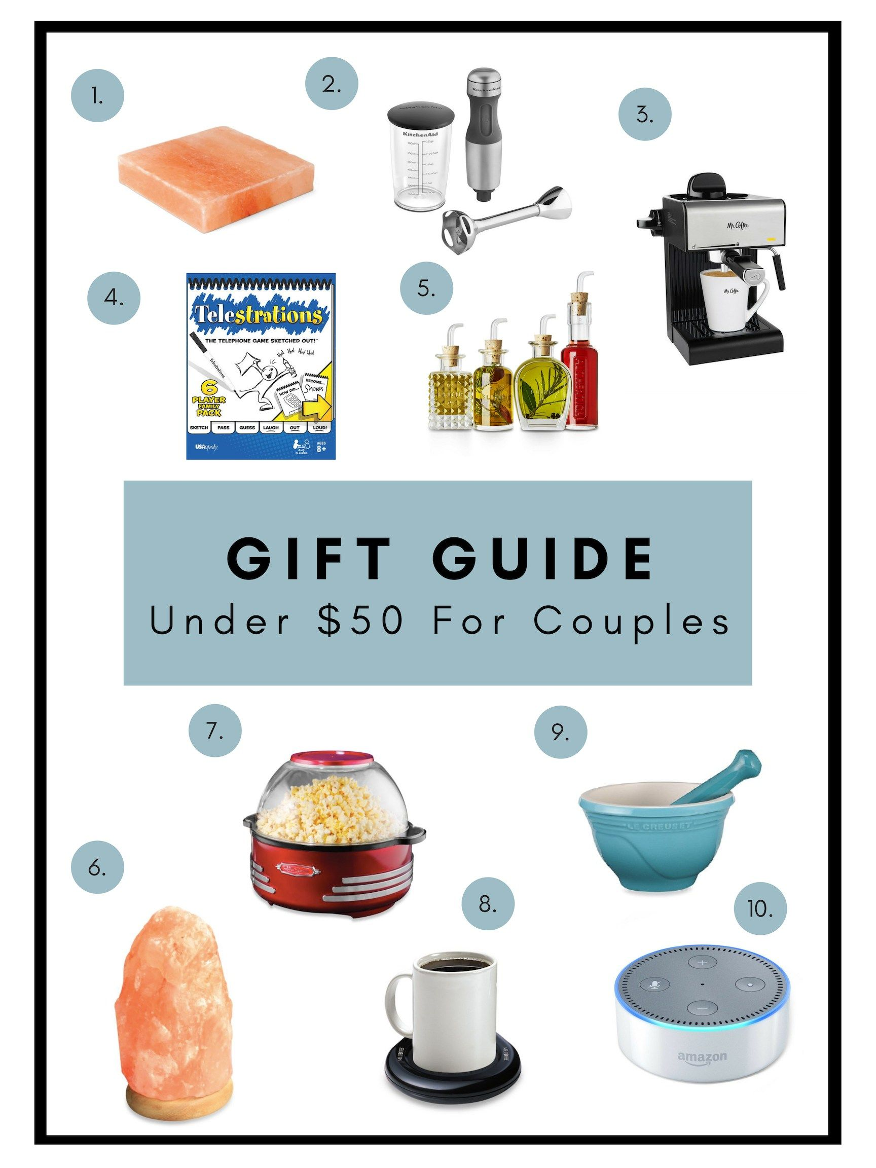Under 50 gift guides for couples home decor
