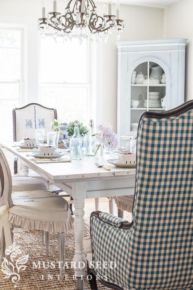Miss Mustard Seed  Farmhouse White Table   Mms Milk Paint Glamorous Miss Mustard Seed Dining Room Design Inspiration