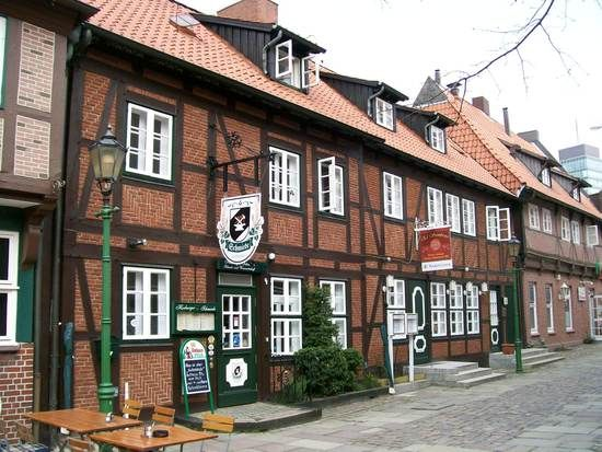 Hamburg/ Harburg: Café Lämmertwiete Altstadt Hamburg-Süd, im Stadtteil Harburg