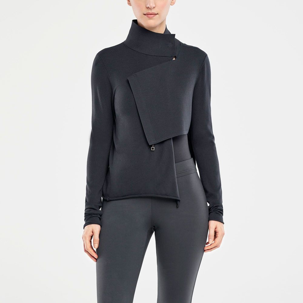 3e51f35082b Sarah Pacini ASYMMETRISCHE STRICKJACKE Vorne   fashion in 2019 ...