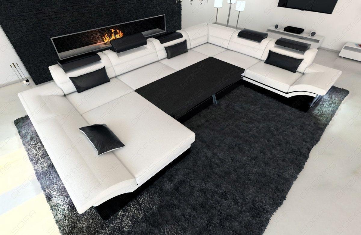 Stoff Wohnlandschaft Enzo Xxl Kanapé Sofa Living Room Sofa és