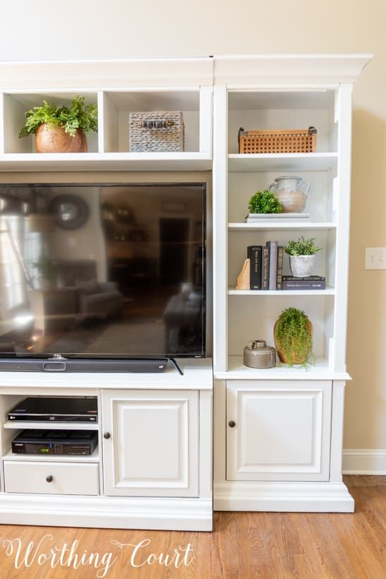 How To Give An Old Entertainment Center A Makeover   Worthing Court