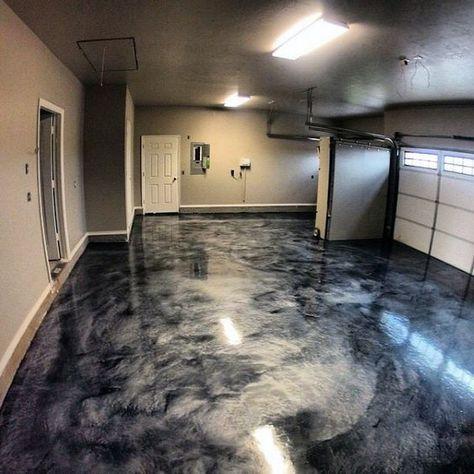 Cool Epoxy Grey Paint Ideas For Garage Floors Plancher De Garage Revetement De Plancher Garage Decoration Garage