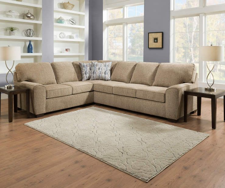 Lane Home Solutions Richmond Right Arm Facing Sofa Piece Big Lots Tan Living Room Living Room Sectional Rustic Living Room Furniture