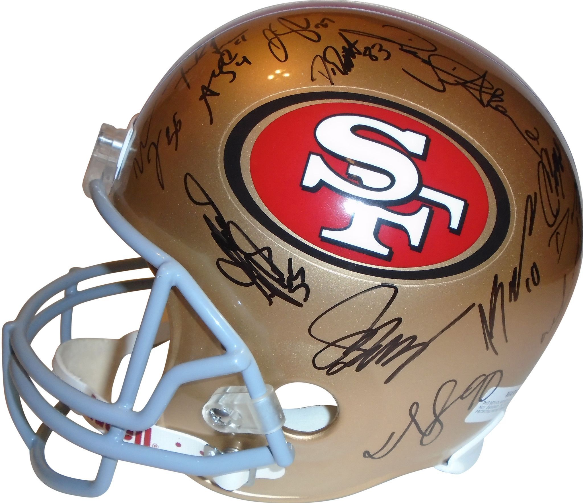a30d26e09 2012 San Francisco 49ers Team Autographed Riddell Full Size Deluxe Replica  Football Helmet, Proof