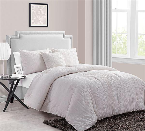 Crinkle 4PC Queen Comforter Set - Ivory in 2018 my burk room