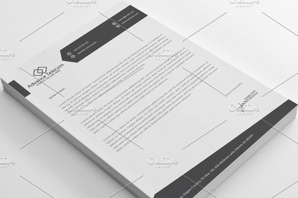 Advance Telecom Letter Head In 2020 Lettering Letterhead Stationery Templates