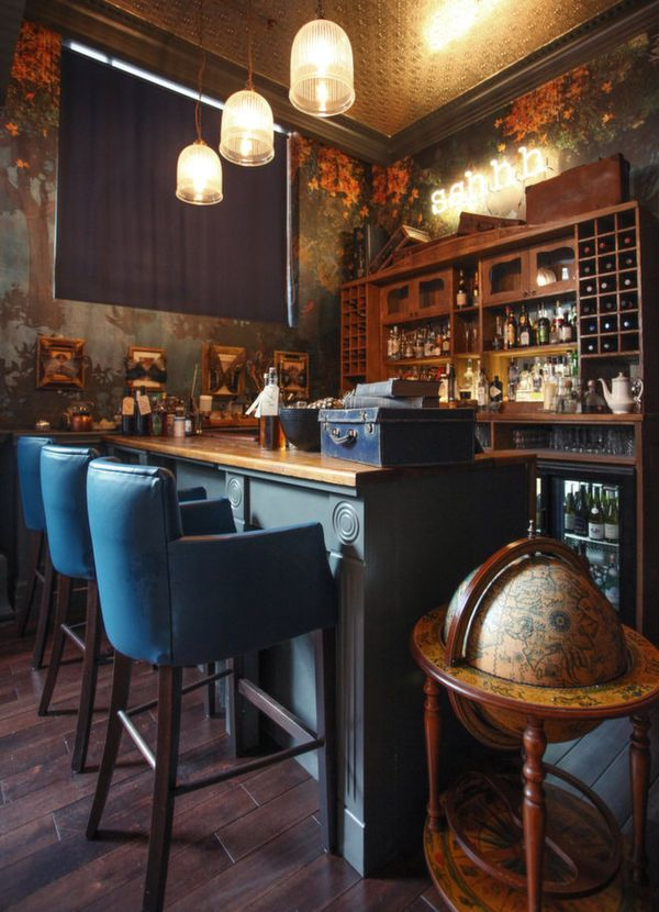 Whimsical Vintage Restaurants Cozy Man caves and Pub ideas