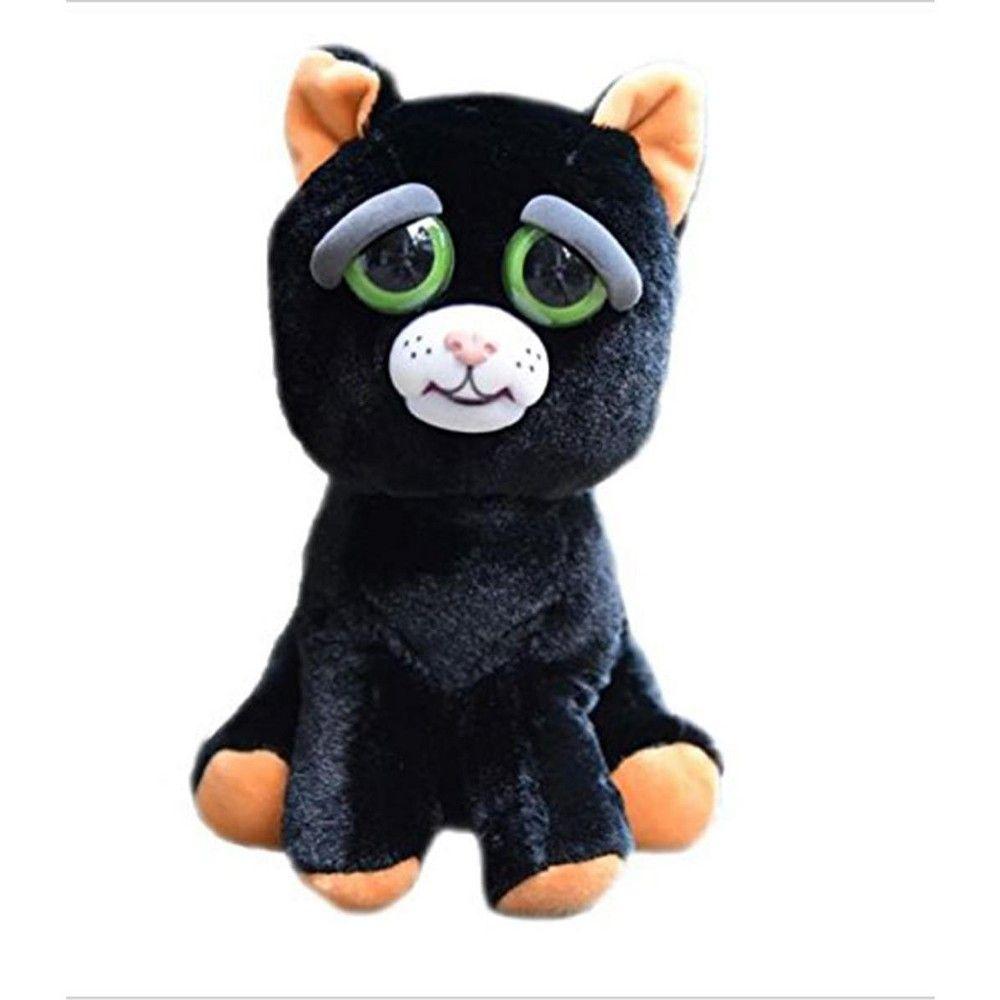 Feisty Pets Katy Cobweb Black Cat 8 Plush Plush Animals Plush Interactive Cat Toys