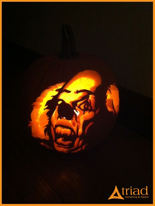 clown from stephen king 39 s it pumpkin carving stencils