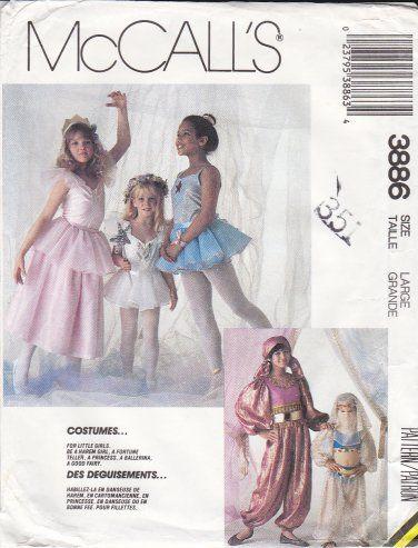 McCalls Sewing Pattern 3886 P944 Girls Size 10-12 Ballet Belly Dance ...