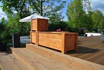 Donica Doniczka Drewniana Noowa Zestaw Teak 6193685632 Oficjalne Archiwum Allegro Outdoor Decor Outdoor Furniture Outdoor Storage Box