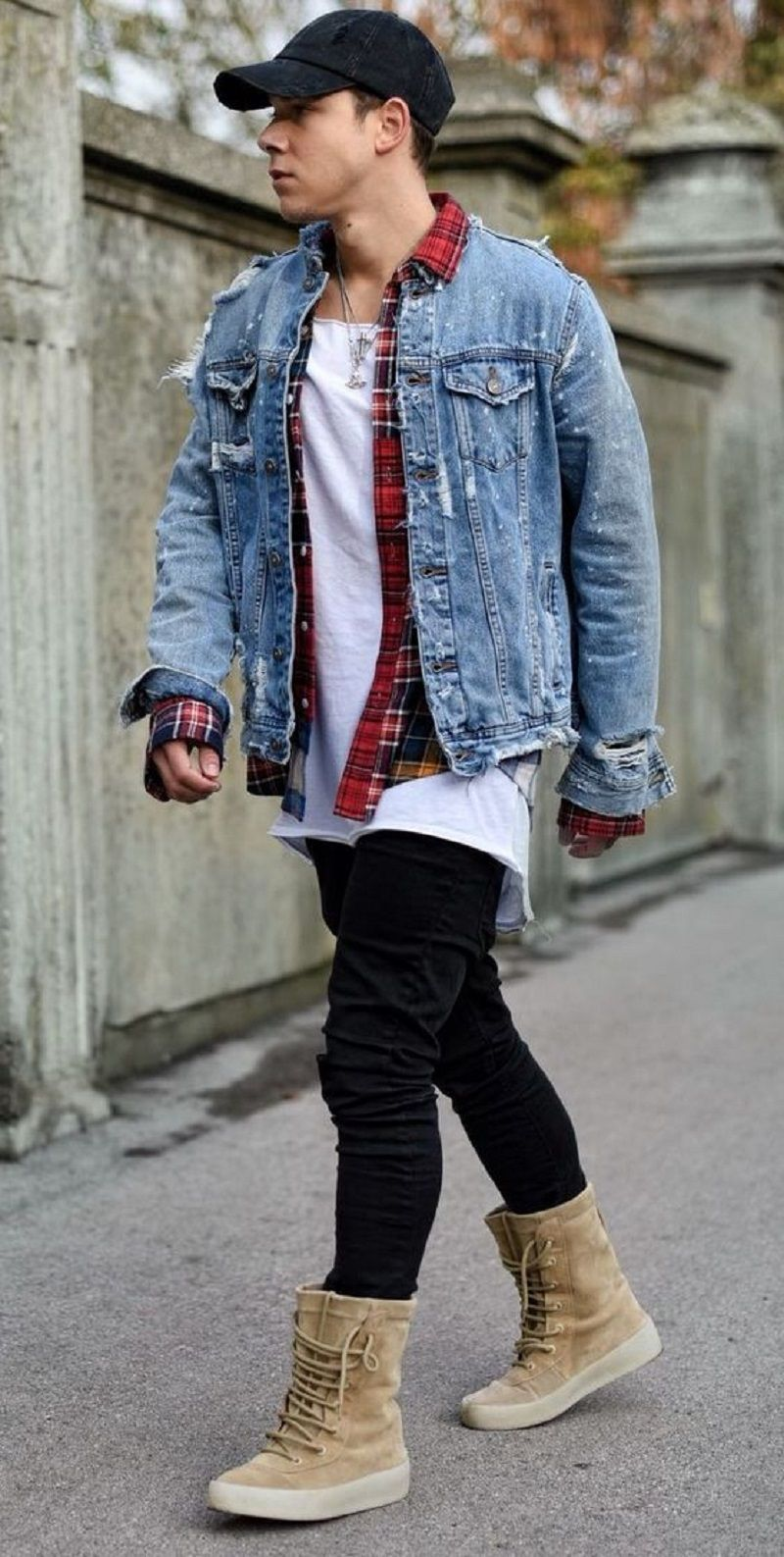 How To Wear Denim Jacket For Almost Any Time Men Anytime Denimjacket Jeans Men Pants Nice Denim Jacket Men Mens Outfits How To Wear Denim Jacket [ 1587 x 800 Pixel ]