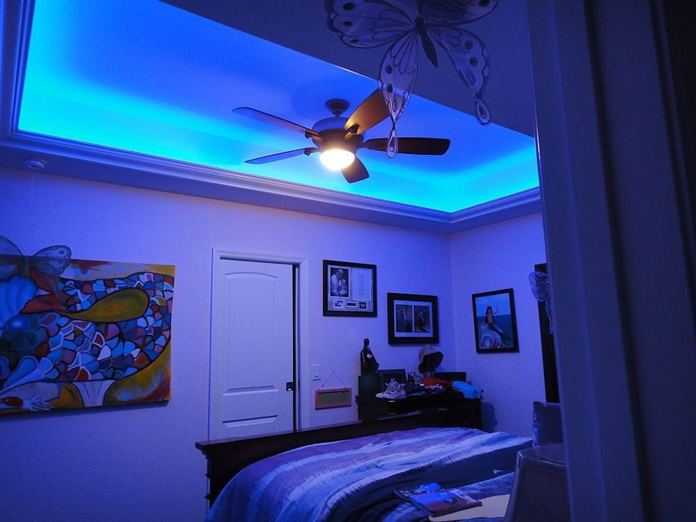 5m 16 4ft Smd 3528 Blue 300leds Flexible Led Strip Light Dc 12v Lamp Adhesive Led Lighting Bedroom Led Color Changing Lights Led Lighting Home
