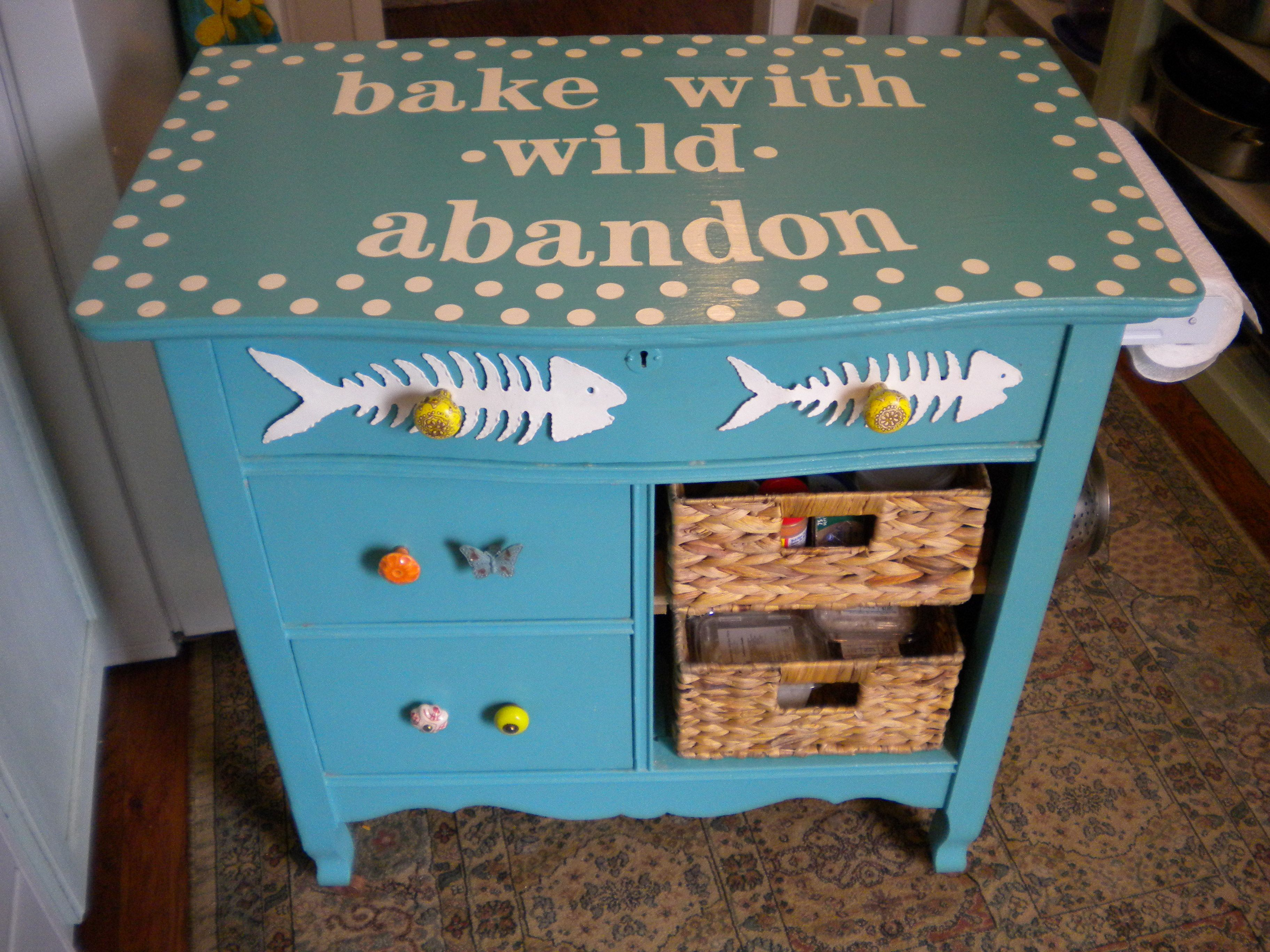 Upcycled Dresser Turned Into A Kitchen Island Upcycle