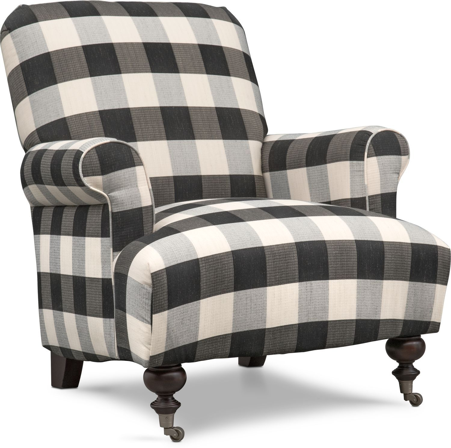 Astounding Rhys Accent Chair Black And White In 2019 Living Room Theyellowbook Wood Chair Design Ideas Theyellowbookinfo