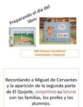 Compartimos lecuras para conmemorar el IV centenario de la 2ª parte del Quijote. CRA Campos Castellanos. Cantimpalos. Segovia