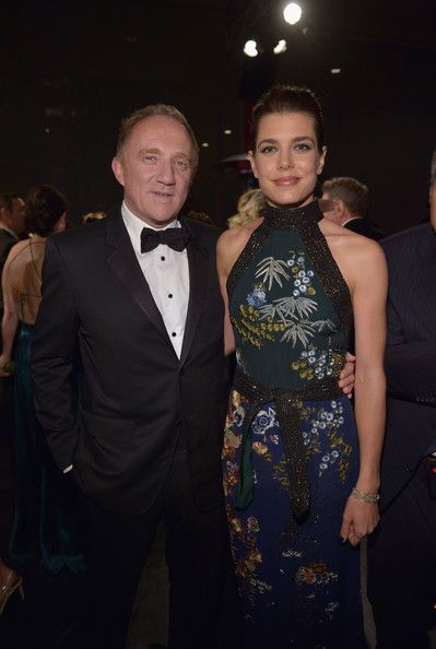 Businessman Francois-Henri Pinault (L) and Charlotte Casiraghi attend the 2014 LACMA Art + Film Gala honoring Barbara Kruger and Quentin Tarantino presented by Gucci at LACMA on November 1, 2014 in Los Angeles, California.