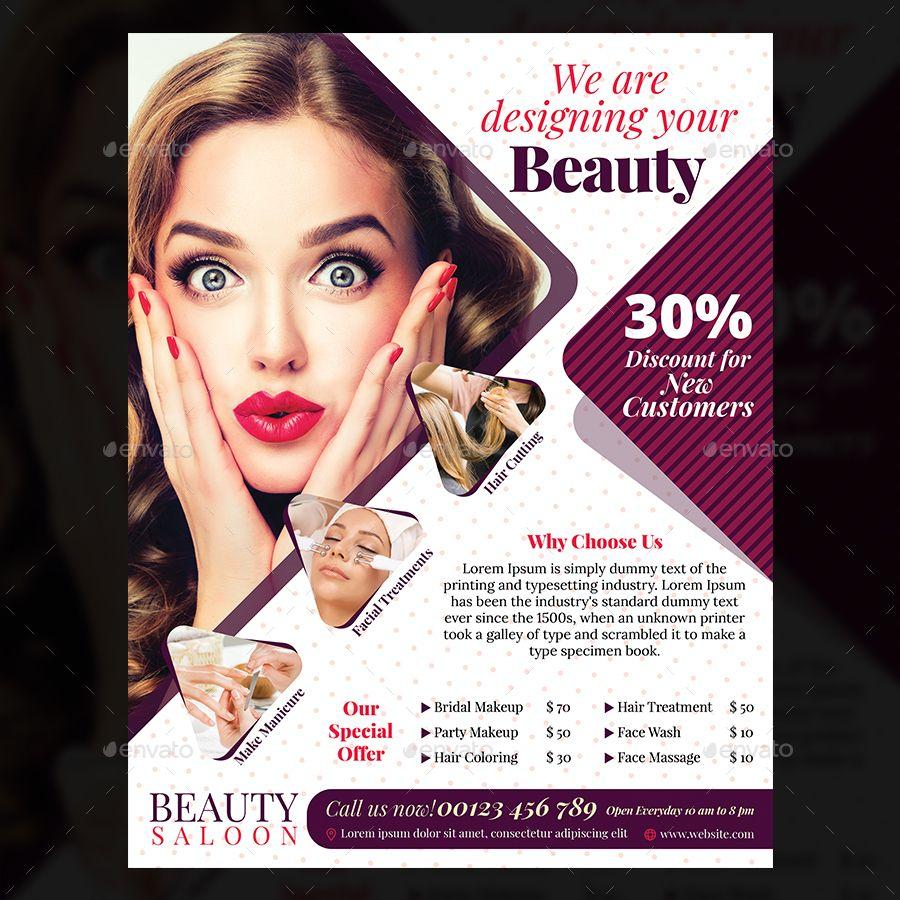 Beauty Salon Flyer Beauty Salon Posters Skin Care Salon Beauty Posters