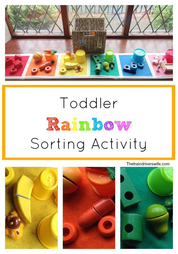 A simple rainbow colour sorting activity for toddlers. A fun and ...