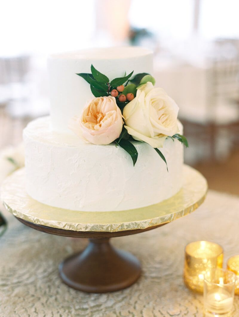 Two Tier Wedding Cakes Wedding cakes with flowers