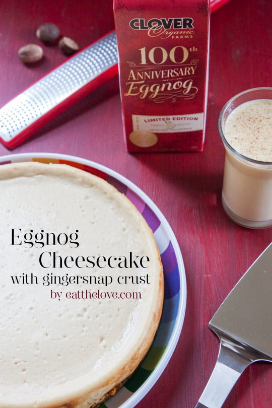 Eggnog Cheesecake with Gingersnap Crust #eggnogcheesecake Eggnog Cheesecake with Gingersnap Crust by Irvin Lin of Eat the Love. #eggnogcheesecake