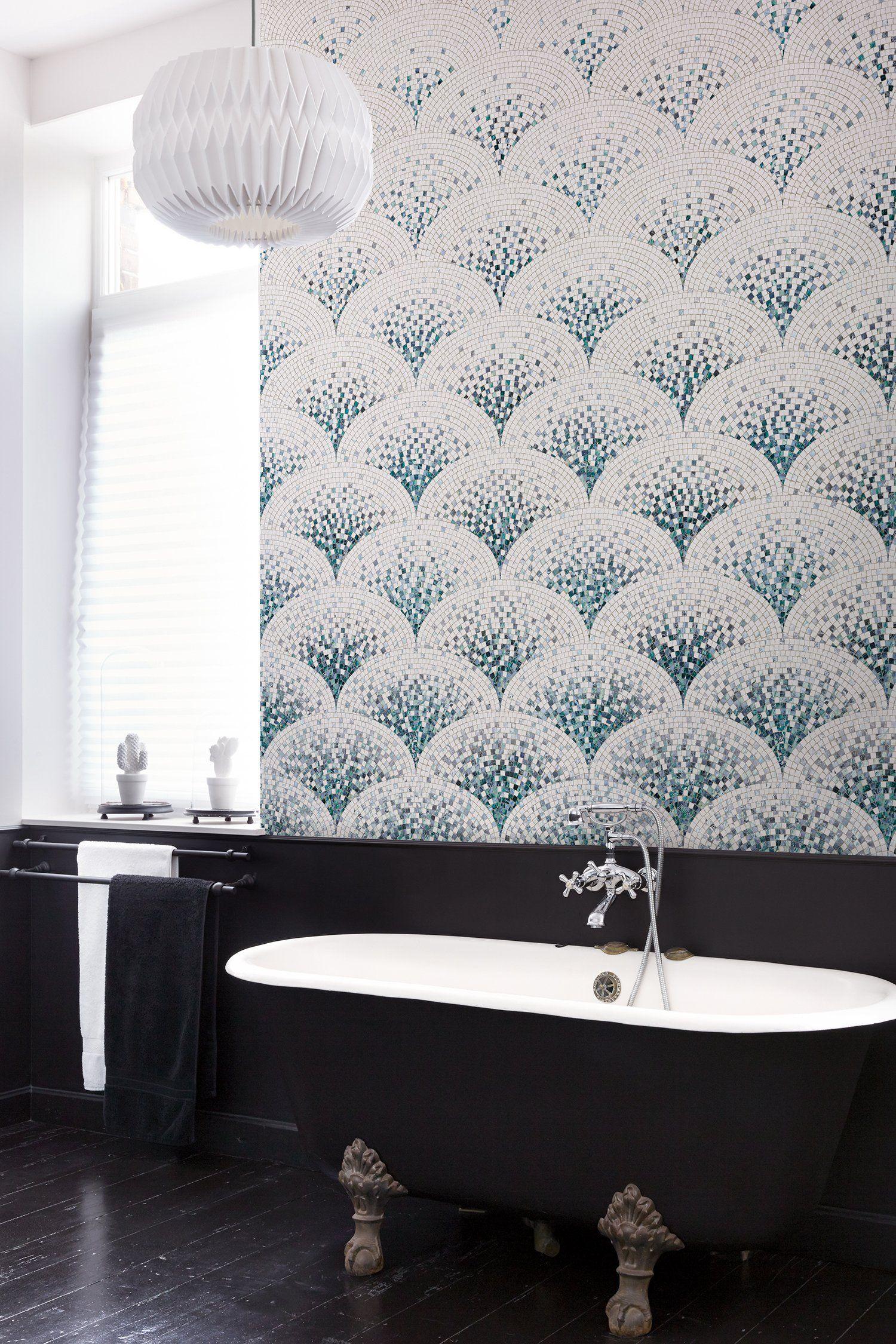 19 beaux papiers peints pour la salle de bains en 19  Papier