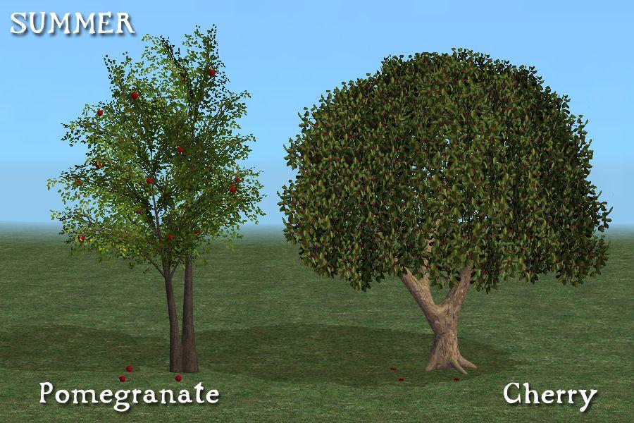 Pomegranate & cherry trees.   Medieval Sims 2: Farming   Pinterest ...