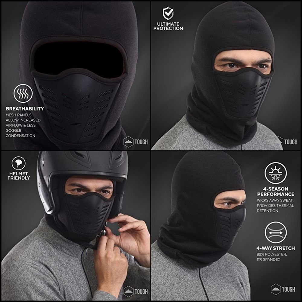 Balaclava Fleece Hood & Ski Mask with Air Mask Cold