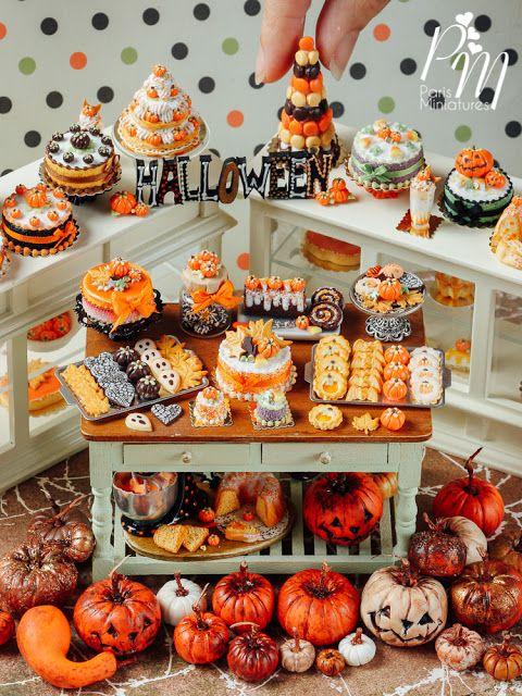 Fete Halloween Paris.Paris Miniatures Halloween Miniatures On Etsy At 9pm Tonight Halloween Miniatures Miniature Food Miniature Dolls