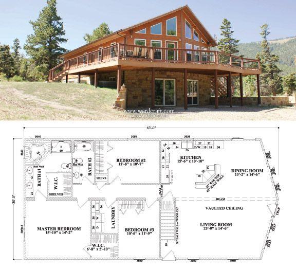 Popular Modular Floorplan Full Of Windows In Colorado Floor Plans House Plans Shop House Plans