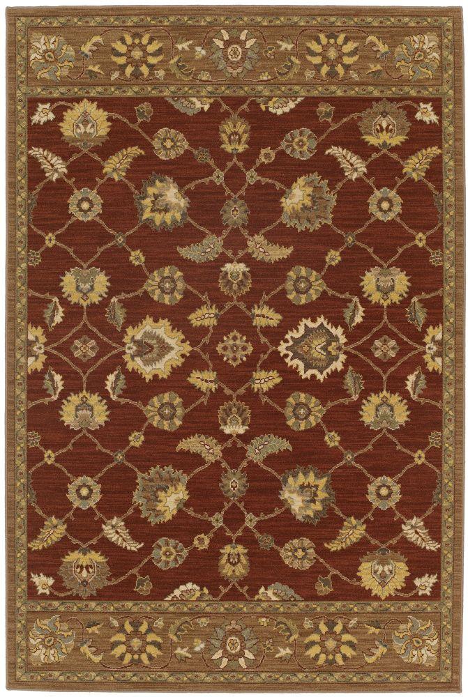 Rugstudio Presents Karastan Elan Shropshire Henna 35520 16101 Machine Woven Good Quality Area Rug