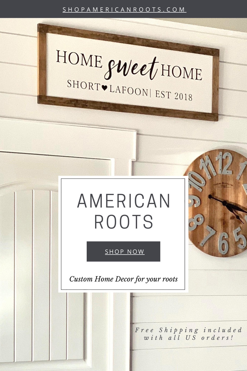 Wood signs made just for you! Farmhouse signs, kids room decor and our favorite CUSTOM signs! Get 10% off your first order! Shop wood signs! #woodsigns #customsigns #personalizedsigns #homedecor #homesweethome   www.shopamericanroots.com