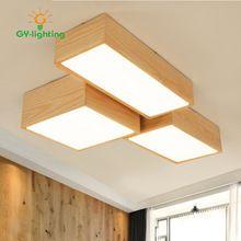 2017 Hot Koop Creatieve Geometrische Plafondlamp LED Hout Slaapkamer ...