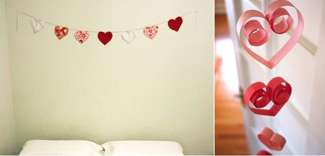 Guirnalda corazones st valentine 39 s ideas manualidades de decoraci n decoraci n san valent n Adornos san valentin manualidades