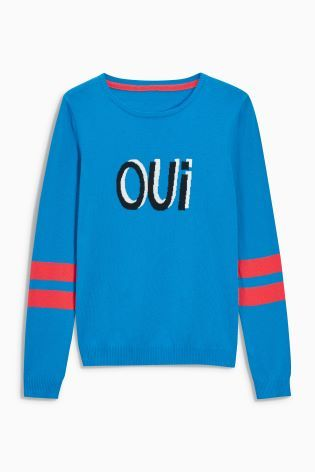4a89b519b9a7 Blue Oui Novelty Sweater   clothes   Sweaters, Shopping, Clothes