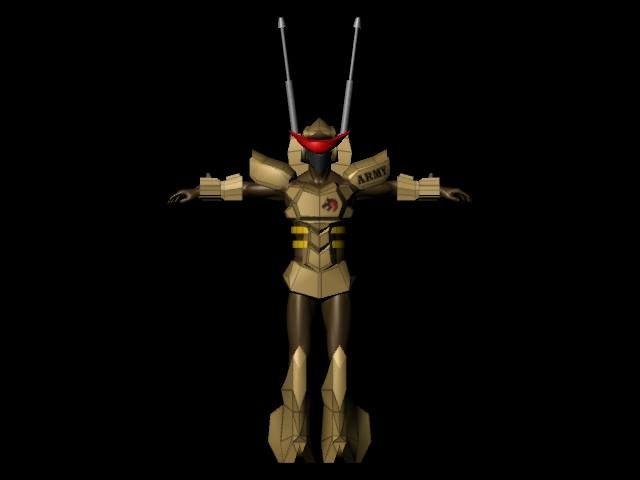 3D maya 角色設計 閃電騎士毀滅者-陸戰部隊-正面