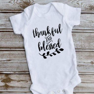 Thankful and Blessed One Piece, Thanksgiving Bodysuit Baby , Blessed Shirt Toddler, Thankful One Piece Girls, First Thanksgiving Outfit #thanksgivingoutfit