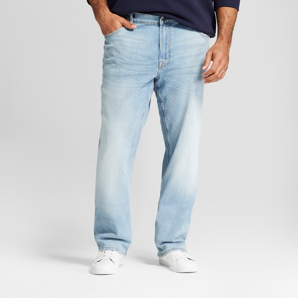 87ca0c64 Men's Big & Tall Straight Fit Jeans with Coolmax - Goodfellow & Co Natural  50x30, Blue