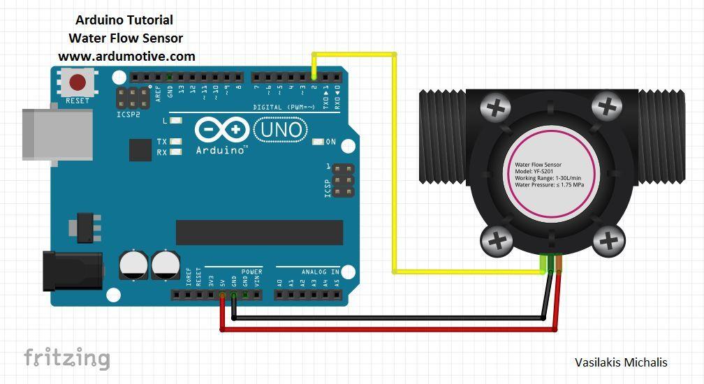 How To Use Water Flow Sensor Arduino Tutorial Arduino Arduino Sensors Arduino Projects