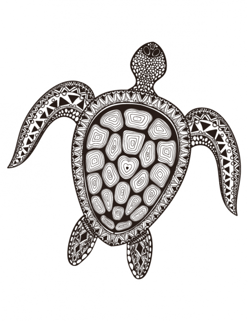Sea Turtle Coloring Page | Turtle, Kid activities and Crafty