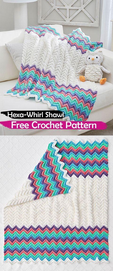 Rickrack Rainbow Baby Blanket pattern by Red Heart Design Team ...