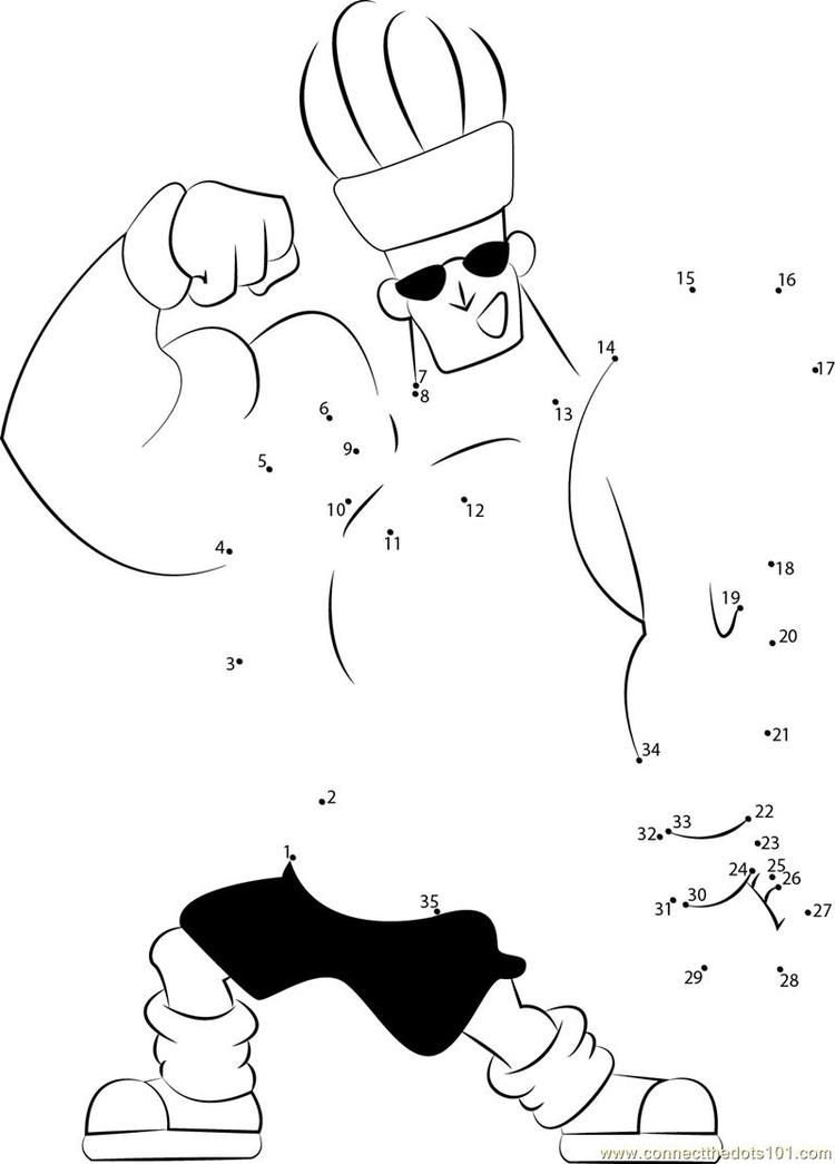 Johnny Bravo Actions Connect Dots In 2020 Johnny Bravo Star Wars Colors Dragon Coloring Page