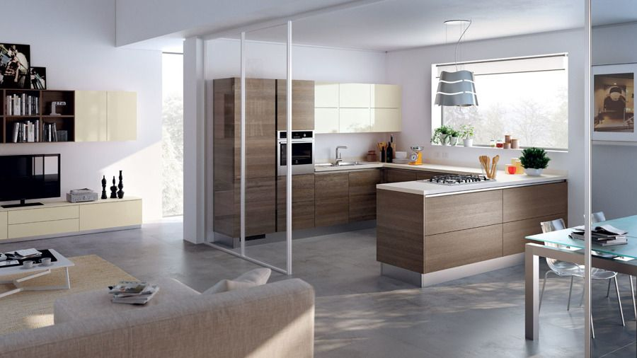 Cucina a vista sul soggiorno | Cucine nel 2019 ...